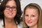 Rosie O'Donnell with her daughters Vivienne Rose O'Donnell (left) and Chelsea Belle O'Donnell (right) who ran away in August. Photo / Getty Images