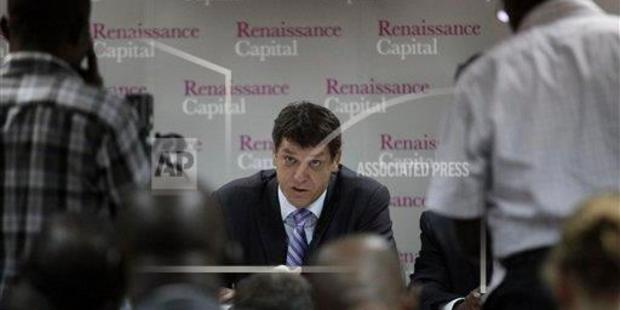Stephen Jennings speaks during a press conference at the 2nd annual Pan-African Investor Conference  in Lagos, Nigeria, in  2011. (AP Photo/Sunday Alamba)
