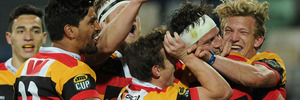 Waikato celebrate during their Ranfurly Shield win over Hawkes Bay. Photo / Getty