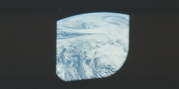 Snapped though the window of the Apollo 16 craft. Photo / NASA/Flickr