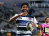 Akira Ioane of Auckland celebrates after scoring a try. Photo / Getty Images
