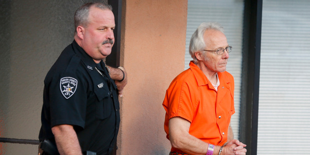 Bruce Leonard, one of the parents charged with beating their teenage son to death inside a church. Photo / AP