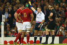 """Louis Picamoles (L) of France was sinbinned for giving Richie McCaw """"a push to the face with his fist"""". Photo / Getty Images"""