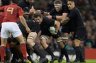 Richie McCaw was as omnipresent as ever as part of a dominant forward pack. Photo / Brett Phibbs