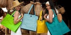 Smarteria bags are made in Phnom Penh from upcycled netting, vinyl and recycled plastic bags. Photo: supplied