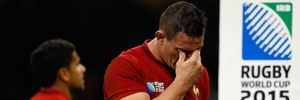 French dejection after their All Black thrashing. Photo / Getty