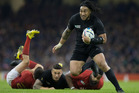 Ma'a Nonu leaves players in his wake after being set up by Sonny Bill Williams. Photo / Brett Phibbs