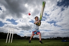 Makaera Poynter, 5, makes the most of the balmy conditions at Coxs Bay Park in Auckland. Picture / Jason Oxenham