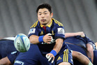 Fan-favourite Fumiaki Tanaka, fresh from his RWC heroics, returns early in the new year for his fourth season with the Highlanders. Photo / Getty Images