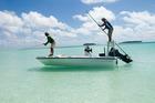 It takes skill to catch a bonefish in Aitutaki. Photo / Kieran Scott
