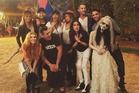 Jessica Alba, Chrissy Teigen and John Legend were all tagged in a photo with a zombie bride from the Hayride. Photo / Instagram