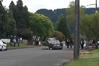 Police interview witnesses at the scene of the mystery crash. Photo / Supplied