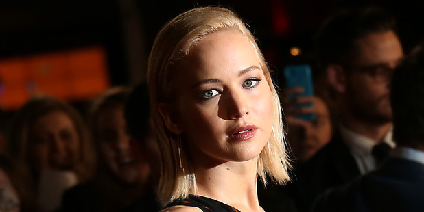 Jennifer Lawrence at the premiere of the film The Hunger Games Mockingjay Part 2, in London. Photo / AP