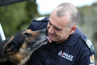 Police dog handler Phil Kahotea spent six years on the beat with Castro catching crims. Photp/ Michael Cunningham
