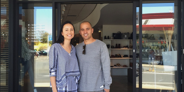 Emma Bidois and Dane Winter at Sisters & Co in the Mount, which is stocking their new brand La Tribe. Photo/supplied
