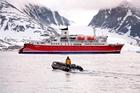 The MS Expedition navigates an unforgiving Arctic landscape. Photo / Roderick Eime