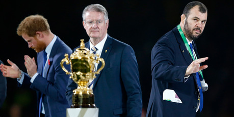 Michael Cheika keeps his eye on the Rugby World Cup after the Wallabies' loss to the All Blacks. Photo / Getty