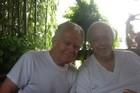 Drew Bosee, 68, and Nino Esposito, 78, sitting on their back porch. Photo / Washington Post