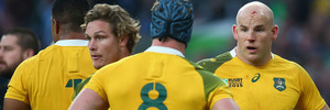 Australia were on the wrong end of a one-sided final at Twickenham. Photo / Getty