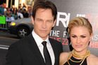 Stephen Moyer and Anna Paquin, shared many saucy love scenes on the TV series True Blood. Photo / Getty