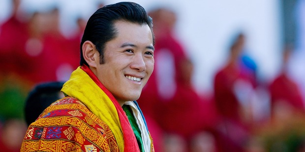 Jigme Khesar Namgyel Wangchuck, the king of Bhutan, topped the list. Photo / Getty Images