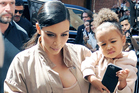 Kim Kardashian and North West. Photo / Getty Images