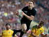 Ben Smith takes a high ball during the 2015 Rugby World Cup final. Photo / Getty Images