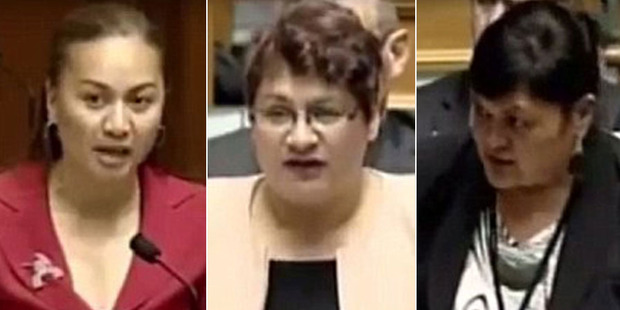 Loading Green MP Marama Davidson,  Green party co-leader Metiria Tureia and Labour's Nanaia Mahuta were among the seven MPs who revealed their stories of sexual violence. Photo / NZ Parliament