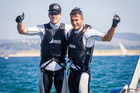 Peter Burling, left and Blair Tuke in the Santander 2014 ISAF Sailing World Championships. Photo/supplied.