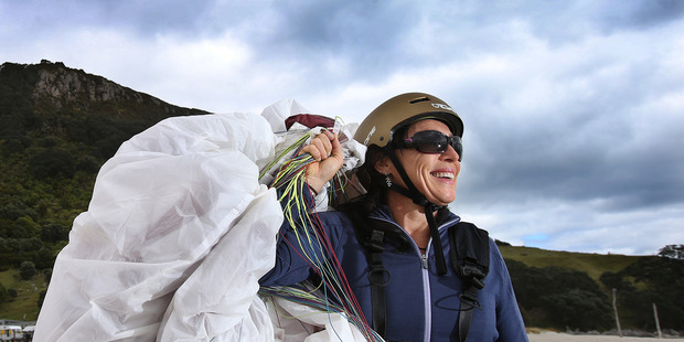 Paraglider Dominique Le Sellin says pilots need basic weather knowledge to read winds and stay safe. Photo/John Borren