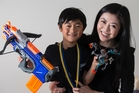 Austin Wang and mum Ying Jia Li look forward to his 7-year-old interview. Photo / Jason Oxenham