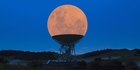 """Chris Pegman's image showing a """"supermoon"""" in a Warkworth radio telescope has been viewed more than 2 million times. Image / Chris Pegman"""