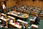 Empty chairs once again after MPs walk out in protest. Photo / Supplied