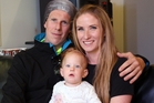 Jeremy and Jade Braddock and their 17-month-old daughter Annabelle, who was  born prematurely at 26 weeks.  Photo / NZME