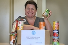 Hayley McIsaac from Edvance is organising a collection for businesses throughout Tauranga. Photo / John Borren