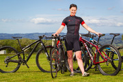 Road warrior Amy Haddon competes and cycles everywhere. Photo / Kellie Blizard