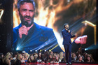 Presenter Taika Waititi on stage at the Vodafone NZ Music Awards at the Vector Arena, Auckland. Photo / Jason Oxenham