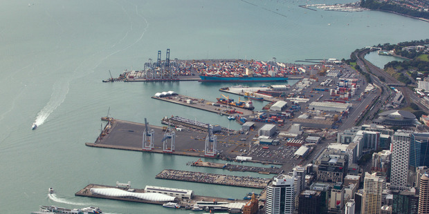 Ports of Auckland plans to increase its use of rail to 30 percent of traffic to the company's Waitemata port in Auckland from the current 13 percent level. Photo / Brett Phibbs