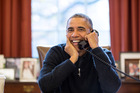 <strong>Obama:</strong> I'm actually very fond of John Keys. We play golf together. He's become a good friend, and an excellent caddy. Photo / Pete Souza