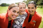 Alysha-Marie Holmes from Orere Primary, centre, with Samantha Richings and Crystal Coates.