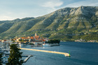Korcula's main town, with views of the mainland. Photo / Insight vacations
