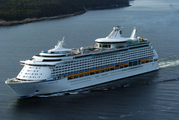 Explorer of the Seas, currently cruising the New Zealand coast.