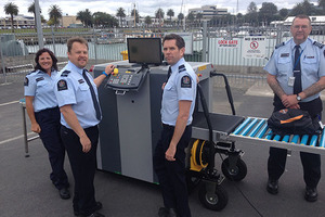 MPI's new mobile biosecurity x-ray machine. Photo / Supplied