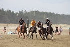 Fast and furious skirmishes are again in store at this year's Porangahau Beach Polo event. Photo / Supplied
