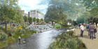 Artist impression of Avon River Precinct, The Terraces, Christchurch. Image / supplied