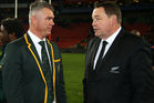 Steve Hansen has said South Africa have made the wrong move by replacing Heyneke Meyer. Photo / Getty
