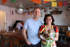 Aaron Ballard and Chonticha Ballard from Mexican Specialties. Photo / Doug Sherring