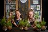Hannah Temara, 17, and Anna Luke-Stewart, 17, of Neeah have been selling their Babylon gardens. Photo/Andrew Warner