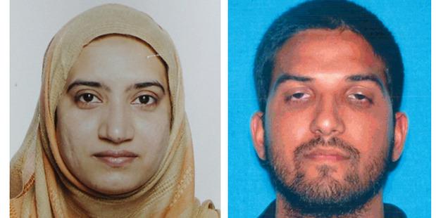 Tashfeen Malik, left, and Syed Farook. Photos / AP