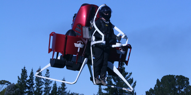 The Martin Aircraft jetpack has a range of  commercial and personal uses.
